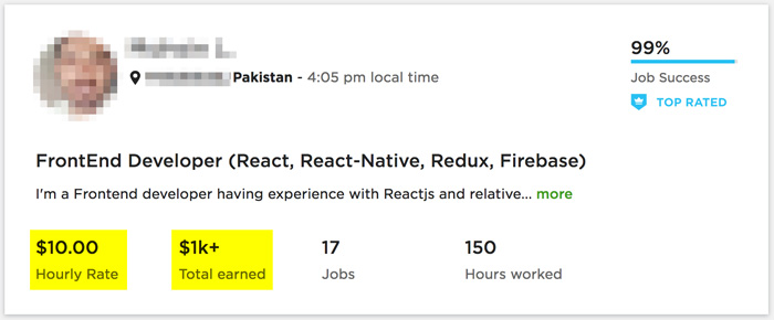 How to get jobs on Upwork: Profile 5