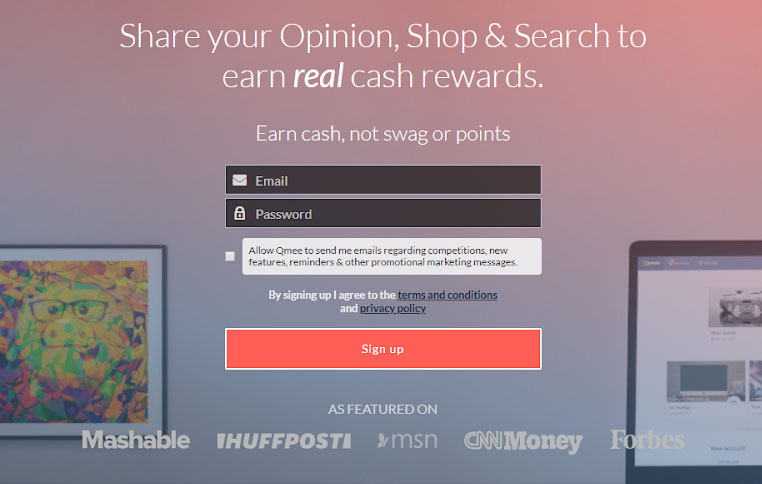 Qmee review: Qmee sign up