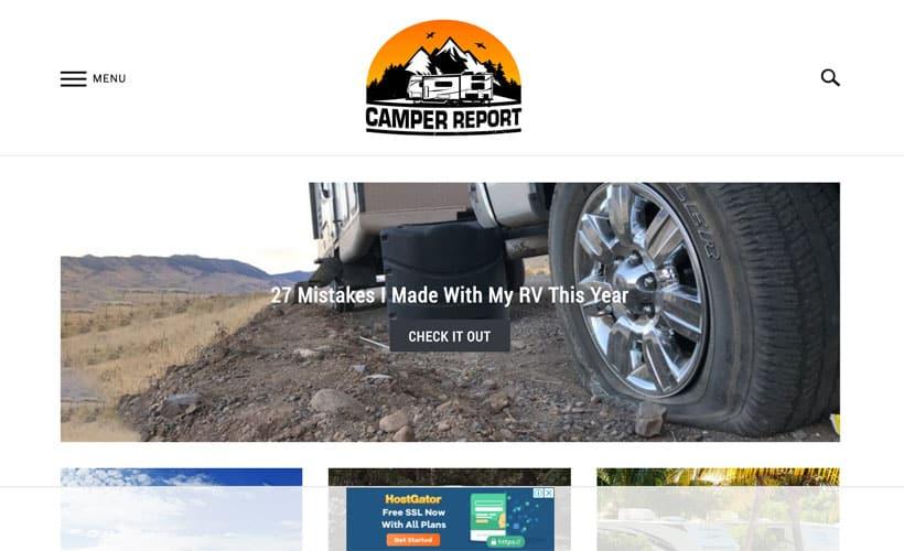 Affiliate marketing website camper report