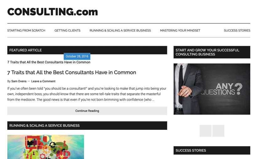 consulting com homepage 2016